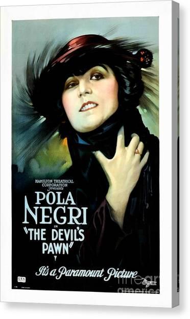 The Devil's Pawn Pola Negri Canvas Print