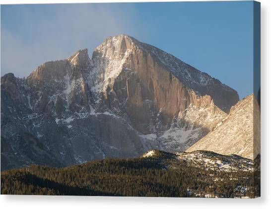 The Diamond Face Of Longs Peak Canvas Print