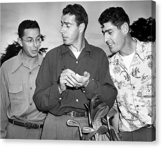Joe Dimaggio Canvas Print - The Dimaggio Brothers by Underwood Archives