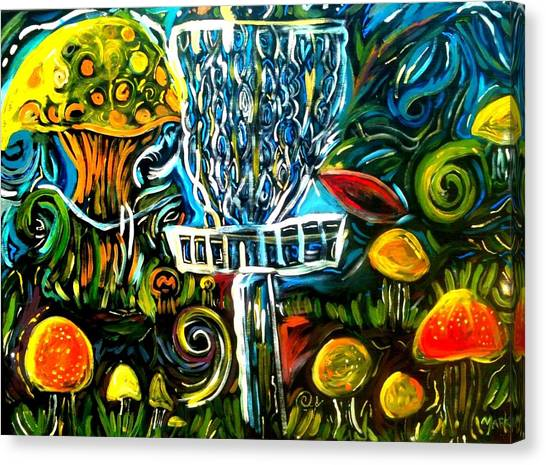 Disc Golf Canvas Print - The Disc Golf Trip by Mark  Herbert