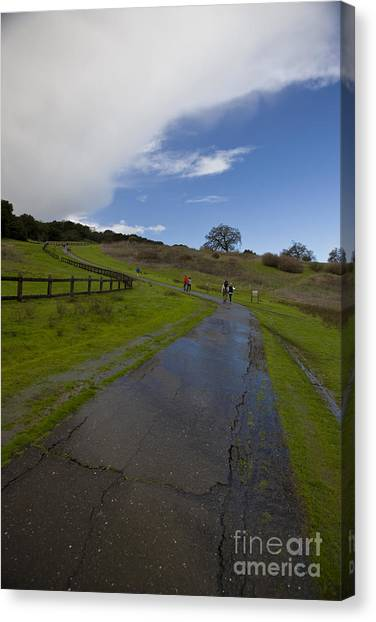 Junior College Canvas Print - The Dish Hiking Trail Stanford University by Jason O Watson