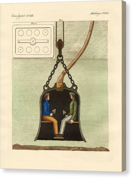 Diving Bell Canvas Print - The Diving Bell by Splendid Art Prints