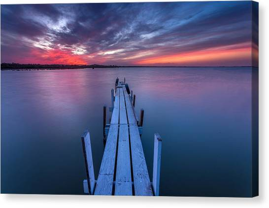 Lonliness Canvas Print - The Dock I by Peter Tellone