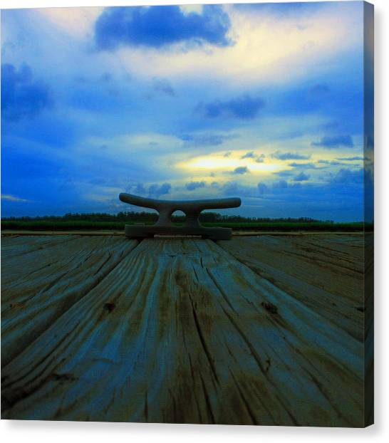 Marsh Canvas Print - The Dock by Tony Delsignore