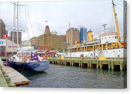 Nova Scotia Canvas Print - The Docks by Betsy Knapp