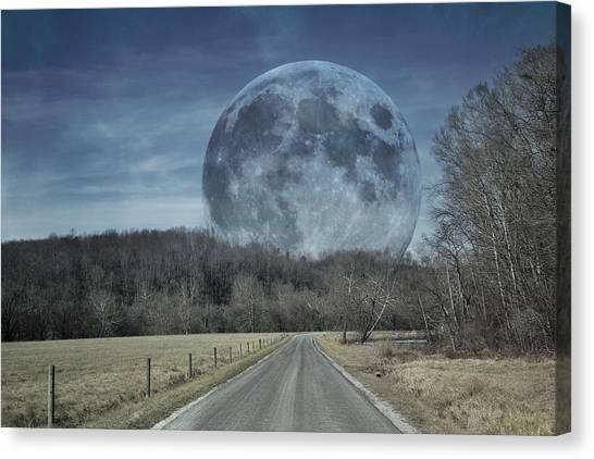 Waxing Gibbous Canvas Print - The Doctor's Light Three Of Four by Betsy Knapp
