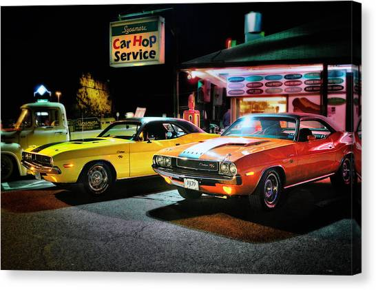 Dodge Canvas Print - The Dodge Boys - Cruise Night At The Sycamore by Expressive Landscapes Fine Art Photography by Thom
