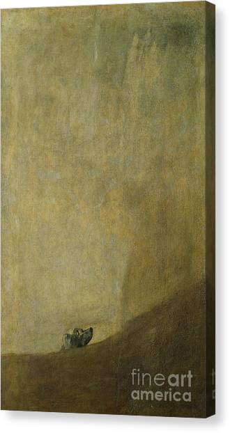 The Prado Canvas Print - The Dog by Goya