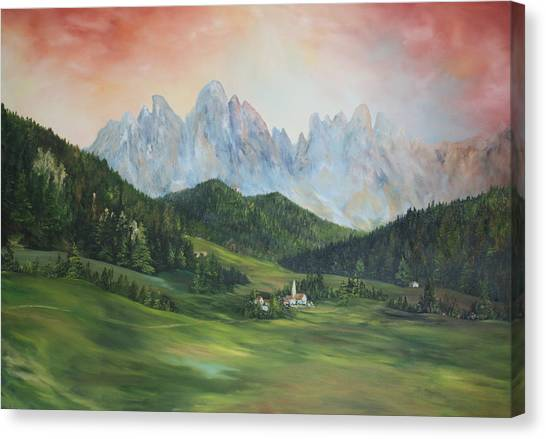 The Dolomites Italy Canvas Print
