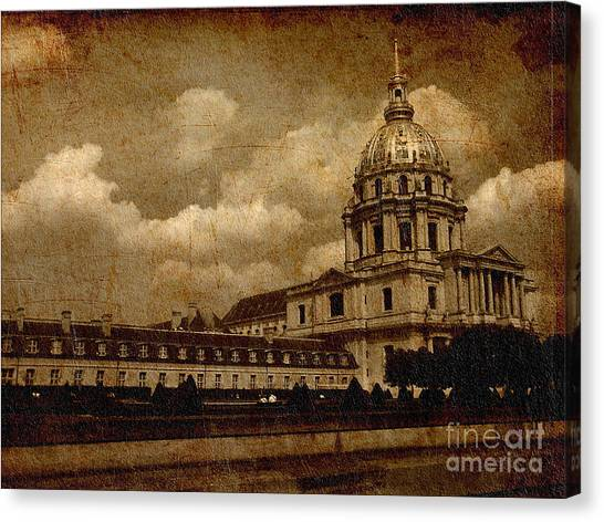The Dome Church- Paris Canvas Print by Soumya Bouchachi