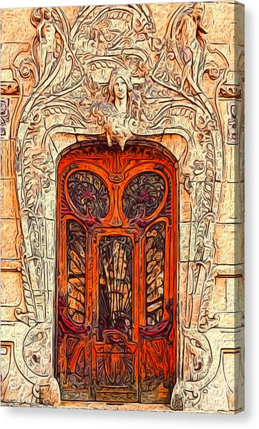 Academic Art Canvas Print - The Door by Jack Zulli