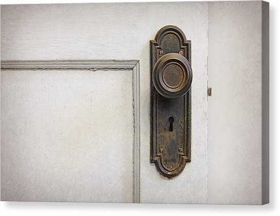 Old Wooden Door Canvas Print - The Door by Scott Norris