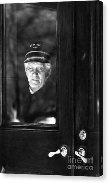 The Doorman Canvas Print by Andrea Simon