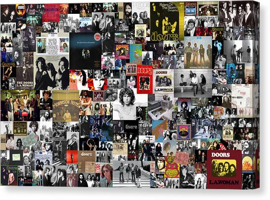 Media Canvas Print - The Doors Collage by Zapista Zapista