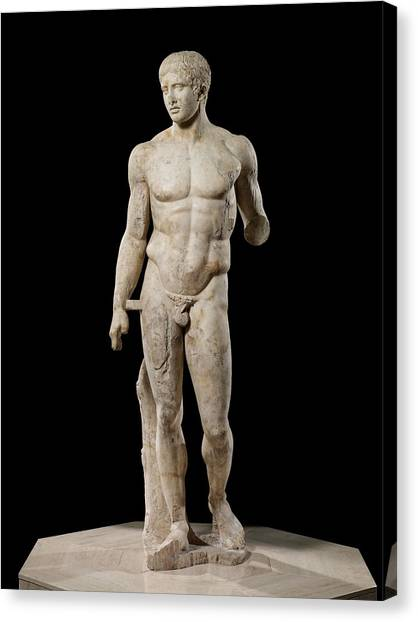 Greece Canvas Print - The Doryphoros Of Polykleitos by Roman School