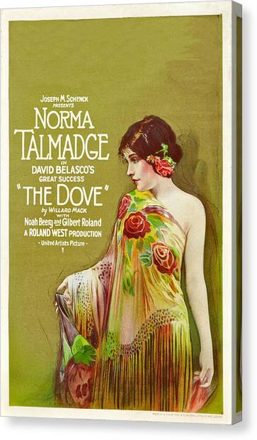 The Dove, Norma Talmadge On Window Canvas Print by Everett