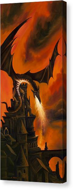 The Dragon's Tower Canvas Print