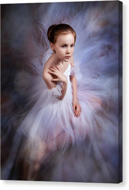 Dress Canvas Print - The Dream Of A Great And A Little Bit About Ballet by Alina Lankina
