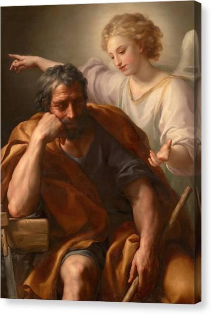 The Dream Of St Joseph Canvas Print