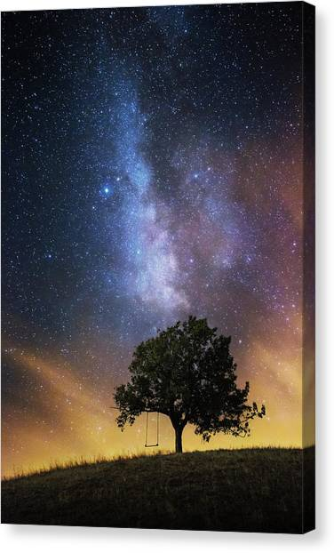 Swing Canvas Print - The Dreamer's Seat by Luk???? Ild??a