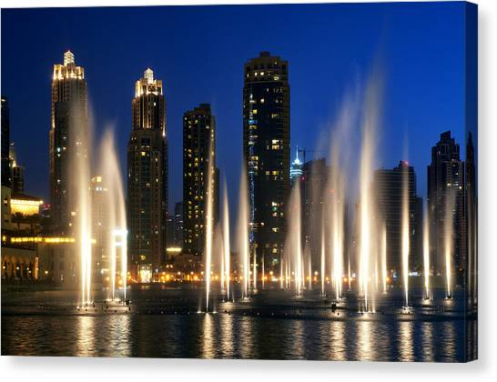 The Dubai Fountains Canvas Print