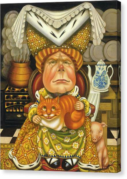 Cheshire Canvas Print - The Duchess Oil & Tempera On Panel by Frances Broomfield