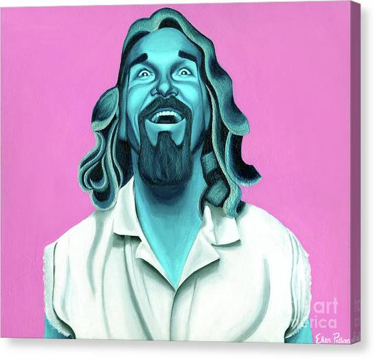 Bowling Canvas Print - The Dude by Ellen Patton
