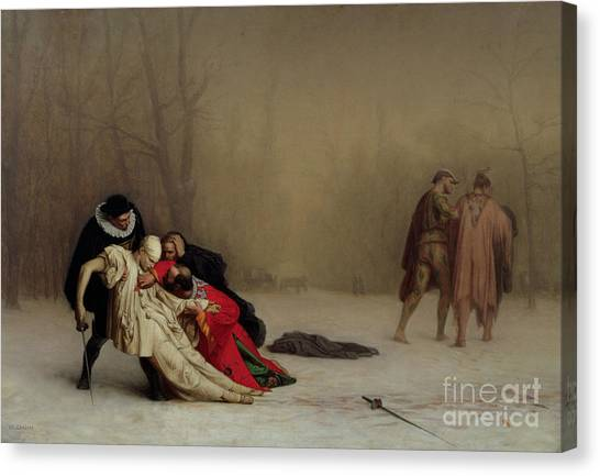 Honor Canvas Print - The Duel After The Masquerade by Jean Leon Gerome