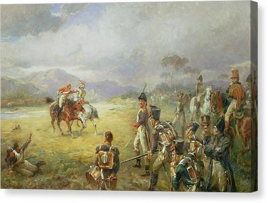 Honor Canvas Print - The Duel  Fair Play by Robert Alexander Hillingford