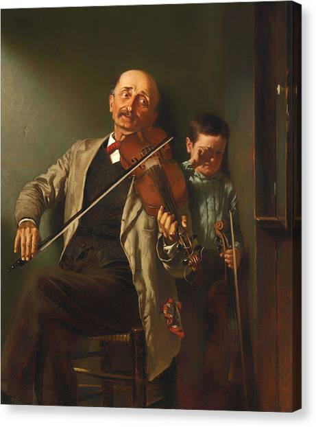 Violins Canvas Print - The Duet by Mountain Dreams