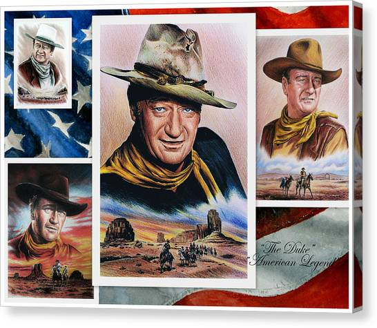 Star Valley Canvas Print - The Duke American Legend by Andrew Read
