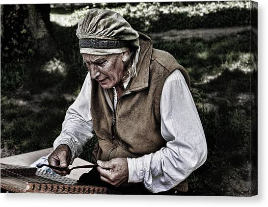 The Dulcimer Man Canvas Print