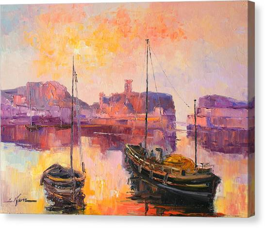 The Dunbar Harbour Canvas Print