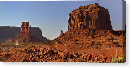Mitten Canvas Print - The Dusty Trail - Monument Valley by Mike McGlothlen