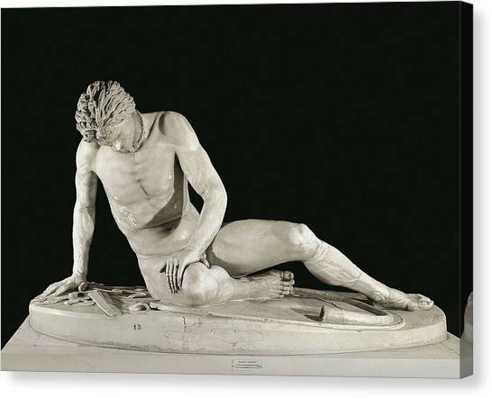 Hellenistic Art Canvas Print - The Dying Gaul. 241 Bc. Roman Copy by Everett