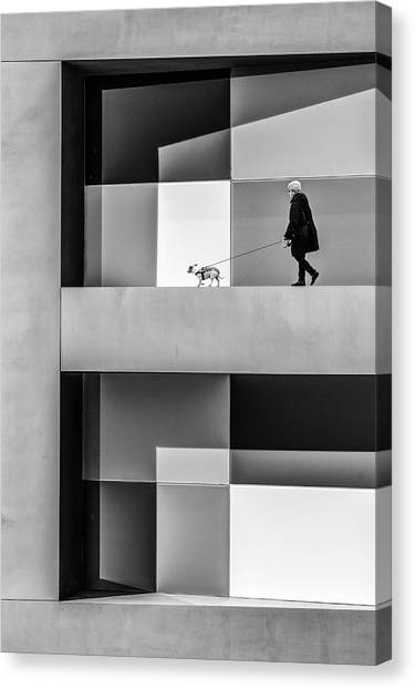 Lady Canvas Print - The E Walk by Luc Vangindertael (lagrange)