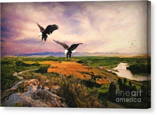 Canvas Print - The Eagle Will Rise Again by Lianne Schneider