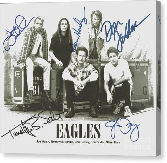 Glen Canvas Print - The Eagles Autographed by Desiderata Gallery