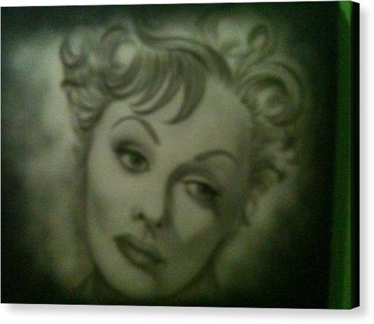 The Early Years Of Lucille Ball Canvas Print