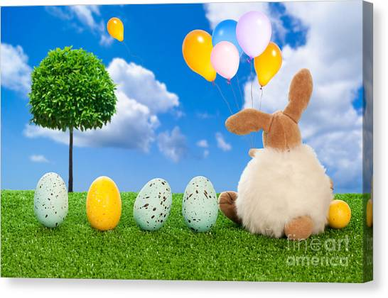 Easter Eggs Canvas Print - The Easter Bunny by Amanda Elwell