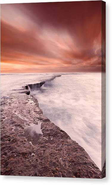The Edge Of Earth Canvas Print