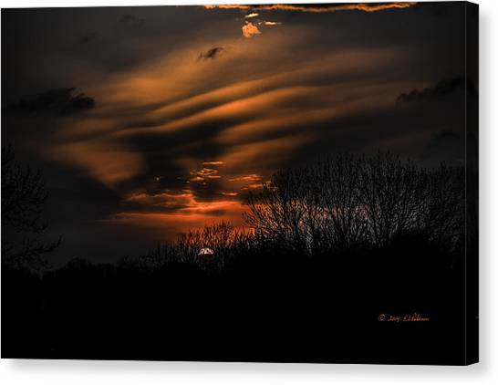 Canvas Print featuring the photograph The Edge Of Night by Edward Peterson