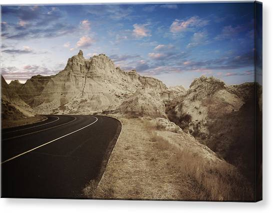 The Edge Of The Badlands Canvas Print by Jens Larsen