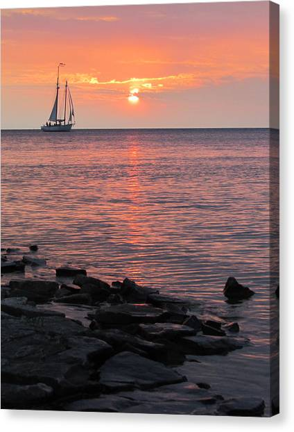 The Edith Becker Sunset Cruise Canvas Print