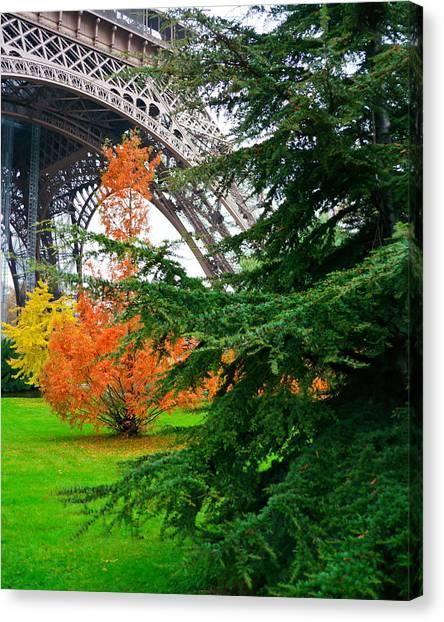 The Eiffel In Fall Canvas Print
