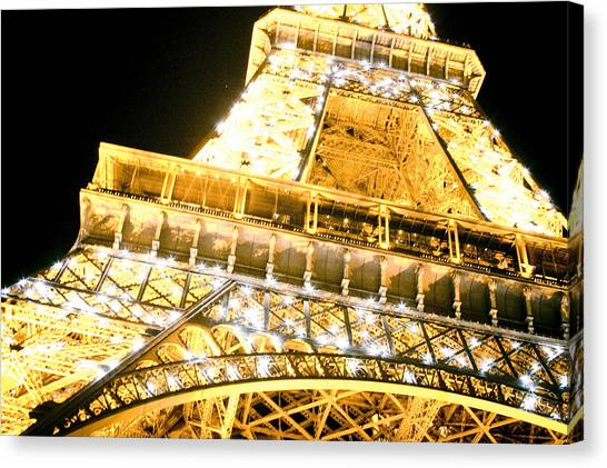 The Eiffel Tower At Night Canvas Print