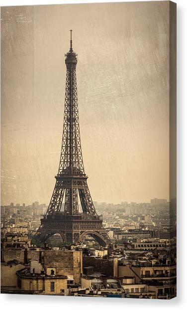 The Eiffel Tower In Paris France Canvas Print