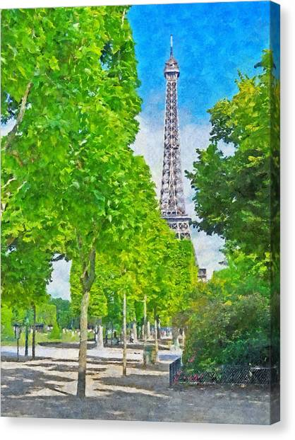 The Eiffel Tower In The Spring Of 2014 Canvas Print