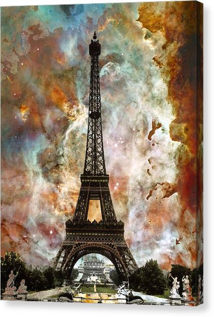 Eiffel Tower Canvas Print - The Eiffel Tower - Paris France Art By Sharon Cummings by Sharon Cummings