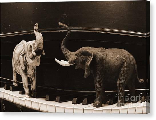 The Elephant Walk Canvas Print
